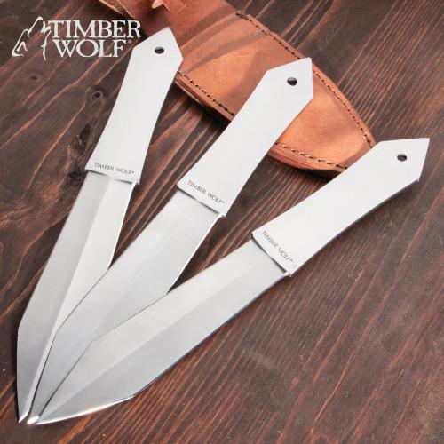 Timber Wolf Diamond Throwers Set w/Sheath