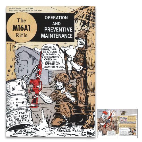 Vietnam Comic Book M16 Rifle Instructions