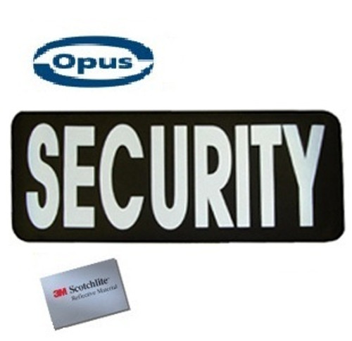 Opus Security Patch - Black/Silver