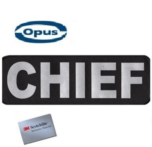 Opus Chief Patch - Black/Silver