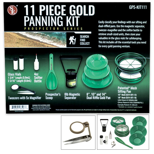 11-Piece Prospector Gold Panning Kit