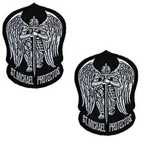 Saint Michael Protect Us- Hook and Loop Morale Patch - SWAT