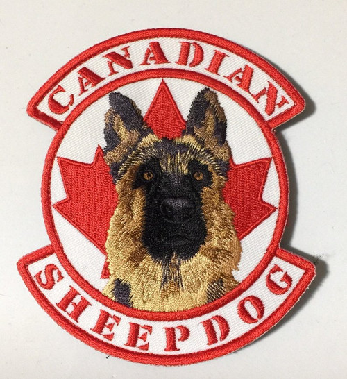 Canadian Sheepdog- Hook and Loop Unit Patch - Full Colour