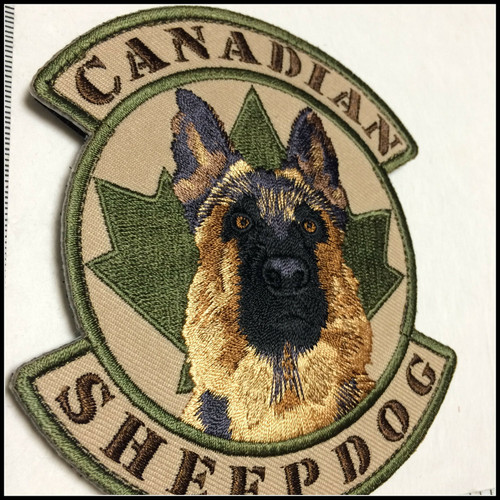 Canadian Sheepdog- Hook and Loop Unit Patch - Multicam