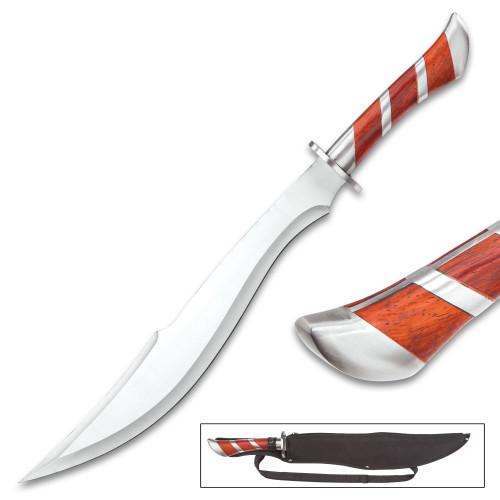 Arabian Heartwood Scimitar Sword With Sheath