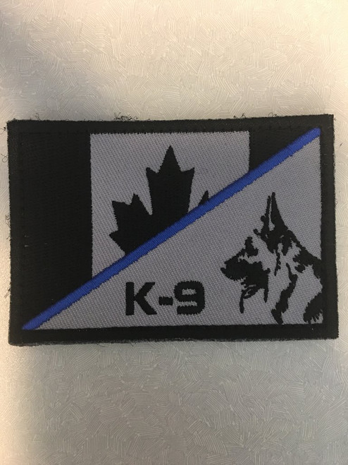 Canada Flag / K-9 -Hook and Loop Morale Patch - SWAT
