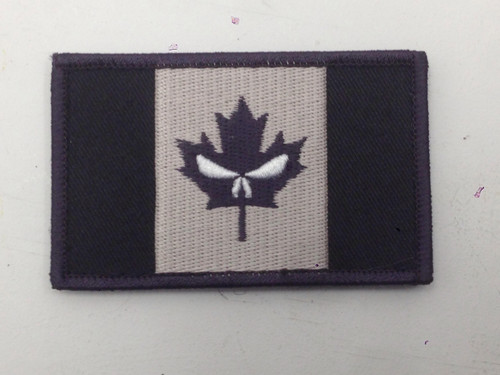 Canadian Flag w/ Punisher Eyes - Hook and Loop Morale Patch - SWAT