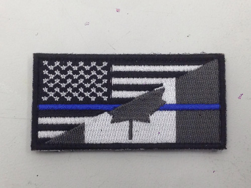 Canada / United States Friendship - Hook and Lop Morale Patch- Blueline