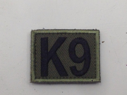 K9 - Hook and Loop I.D. Patch - Olive Drab