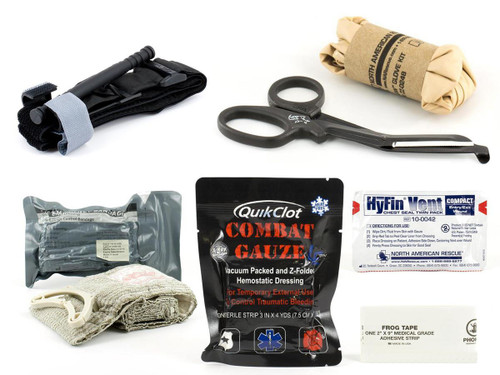 Eleven-10 Gear SQUARE Refill Medical Supply Kit with QUICKCLOT LE