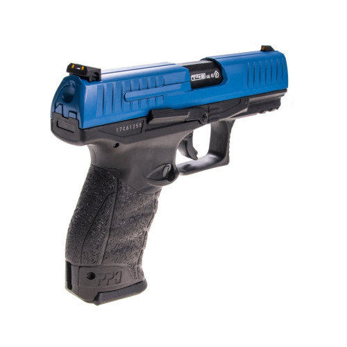 T4E Walther PPQ .43cal Paintball Pistol w/ 2 Mags - Blue