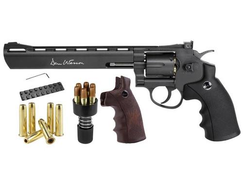 "Dan Wesson 8"" Dual Ammo, Dual Grip Revolver - Black"