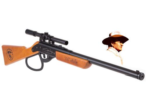 John Wayne Lil Duke BB Gun Rifle + Scope Kit - Plastic Lever