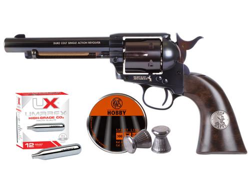 John Wayne Colt CO2 Pellet Revolver kit - Blued