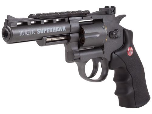 """Ruger Superhawk Metal CO2 BB Revolver, .177 Caliber, 6"""" Bar"""