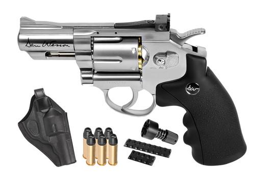 "Dan Wesson 2.5"" CO2 Pellet Revolver Kit - Silver"