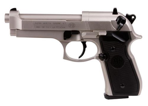 Beretta 92FS Air Pellet Pistol - Nickel/Black Grips