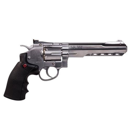 Crosman SR357 Silver Co2 Powered BB Revolver, 6 Shot 4.5mm cal.