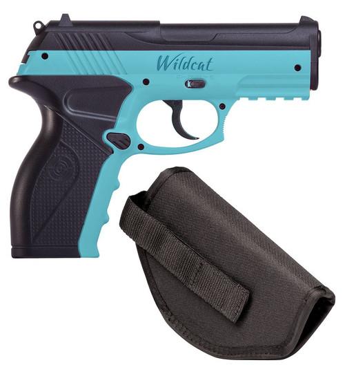 Crosman Wildcat Kit CO2 Powered, Semi-Auto BB Air Pistol w/Holster - Blue