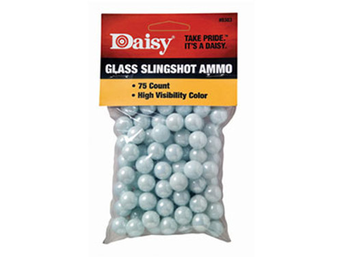 """Daisy 1/2"""" High Visibility Glass Slingshot, 75ct"""