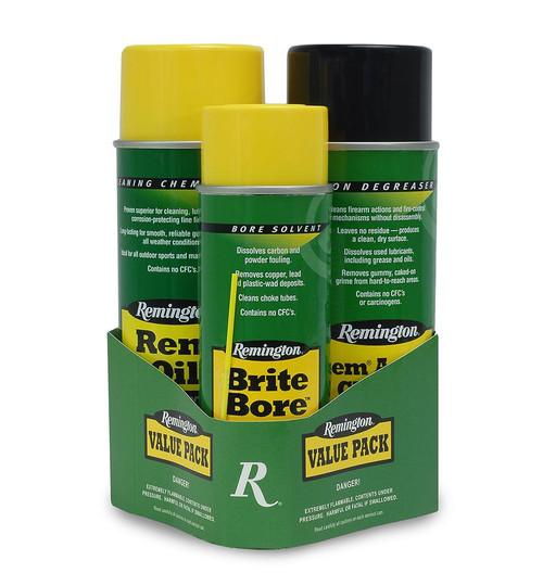 Rem Oil, Brite Bore & Rem Action Cleaner 3-Step Value Pack
