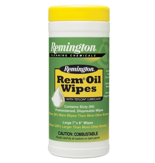 """Rem Oil Wipes (60 Count) 7"""" x 8"""" Wipes"""
