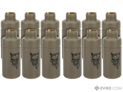APS Thunder Devil CO2 Single Use BB Grenade Shell (Package: Set of 12 with Core)