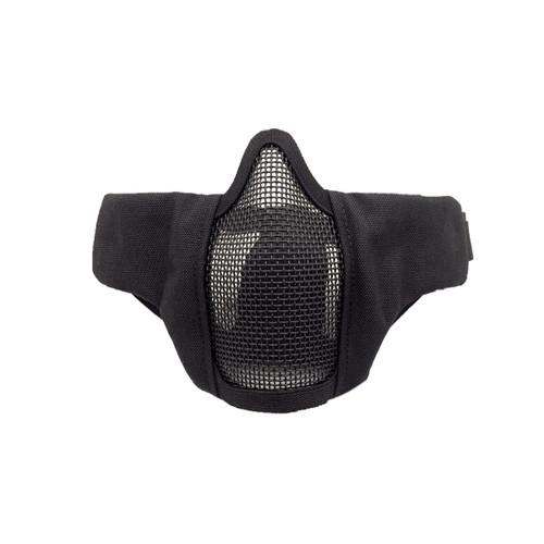 Bravo Airsoft Tactical Gear: V3 Strike Metal Mesh Face Mask in Black