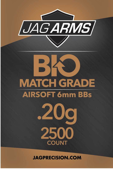 JAG Arms Biodegradable .20 gram 2500rd White BB