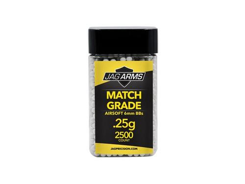 JAG Arms Match Grade .25 gram 2500rd White BB