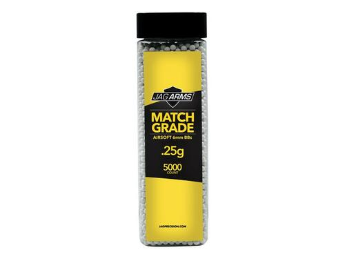 JAG Arms Match Grade .25 gram 5000rd White BB