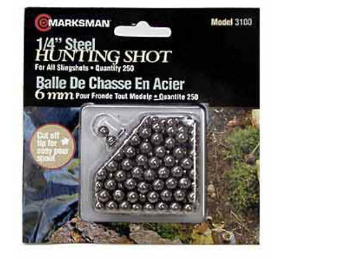 "Marksman 1/4"" Steel Shot, 250ct"