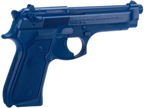Rings Manufacturing Blue Guns Inert Polymer Training Pistol - Beretta 92