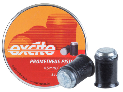 H&N Excite Prometheus Pistol Pellets, .177 Cal, 4.5 Grains, Wadcutter, Lead-Free, 250ct