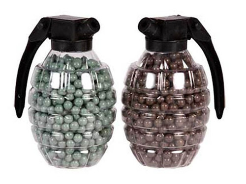 Marines Airsoft Hand Grenade Shaped BB Container,0.2g, 800 Rds Each, 2ct