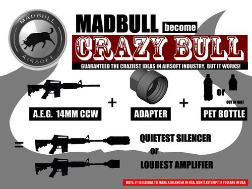 Madbull Airsoft Noise Maker -14mm Adapter (CCW)