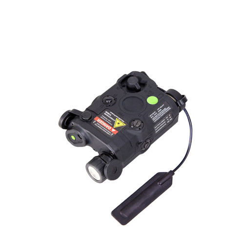 BRAVO Airsoft P15 Flashlight and Green Laser Combo with Pressure Pad - Black