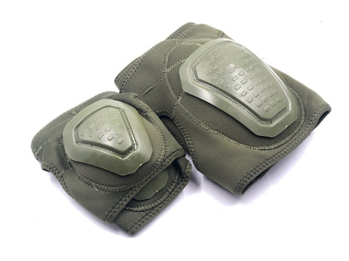 Bravo Airsoft Tactical Gear: Elbow and Knee Pad Set in OD Green
