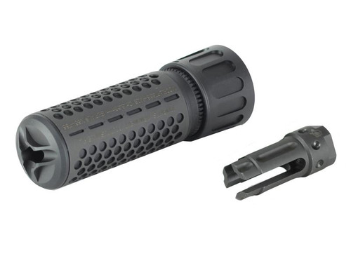 Knight's Armament Airsoft Fully Lic. KAC CQB Quick Detach Barrel Extension in Black OEM by Madbull Airsoft