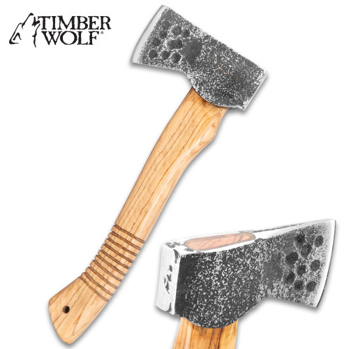 Timber Wolf Forged Carbon Bushcraft Axe