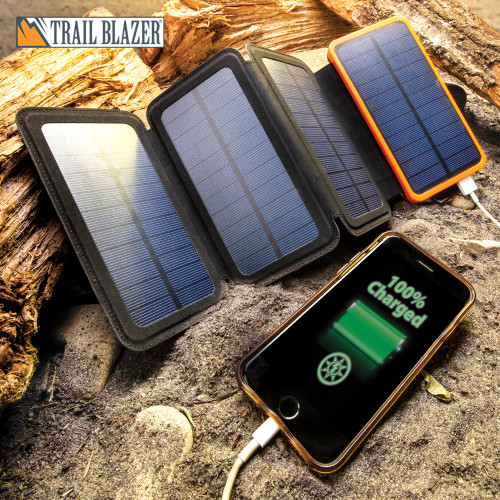 10,000 MAH Folding Solar Charger And Power Bank
