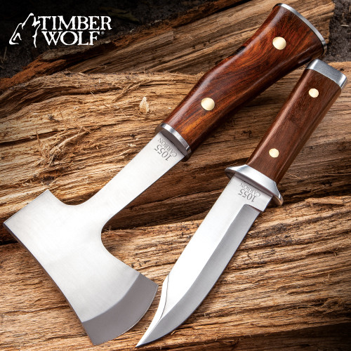 Timber Wolf Expedition Set With Sheath
