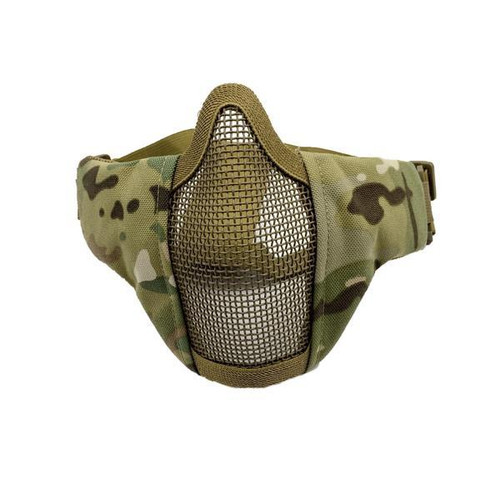 Bravo Airsoft Tactical Gear: V3 Strike Metal Mesh Face Mask in MC