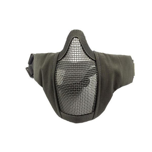 Bravo Airsoft Tactical Gear: V3 Strike Metal Mesh Face Mask in OD