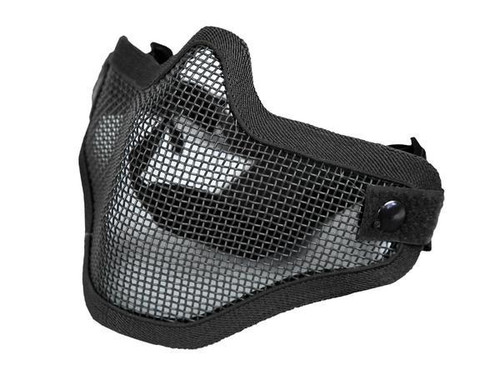 Bravo Tac Gear: Strike Steel Half Face Mask - Black