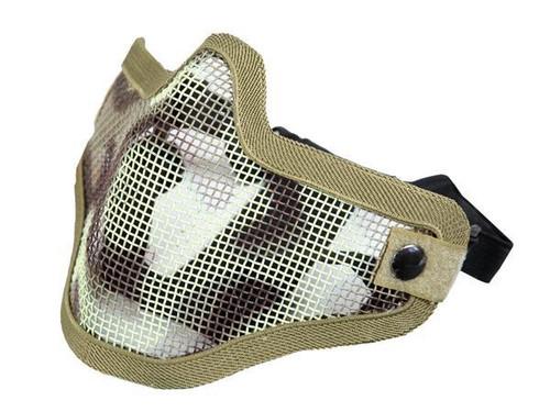 Bravo Tac Gear: Strike Steel Half Face Mask - Desert