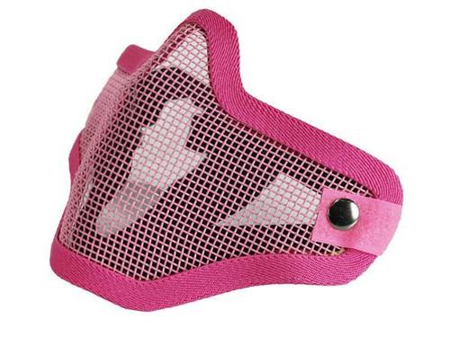 Bravo Tac Gear: Strike Steel Half Face Mask - Pink