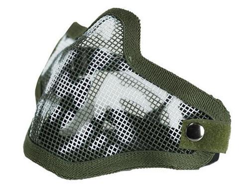 Bravo Tac Gear: Strike Steel Half Face Mask - Skull OD