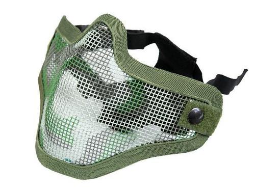 Bravo Tac Gear: Strike Steel Half Face Mask - Woodland