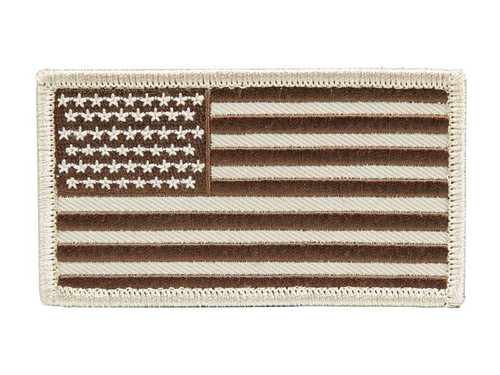 PATCH: USA Flag in Desert Tan